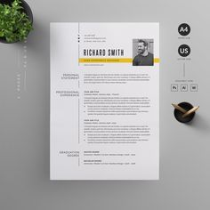 O V E R V I E W Clean, Modern and Professional Resume and Letterhead design. Fully customizable easy to use and replace color & text. H I G H L I G H T S - 2 pages resume template ( & US Graphic Design Resume, Letterhead Design, Cv Design, Web Design Trends, Report Design, Modern Resume Template, Cv Template, Creative Resume Templates, Design Templates