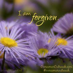 So forgive yourself too ~ #overcomeroutreach
