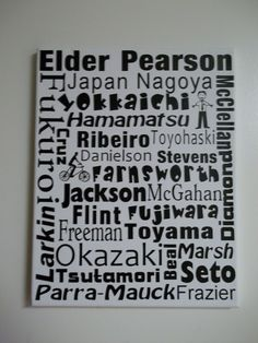 Personalized LDS Missionary Subway Art with pres name, companions, areas seved, mission name, missionary name