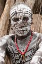 Africa , Ethiopia , Omo Valley , Karo tribesmen warrior stock photo