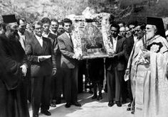 Bright Friday procession of the Icon; Kastri, Arcadia, Greece (1959)
