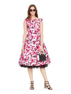 rosebud fit and flare dress - kate spade new york