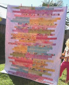 If you're looking to use your jelly rolls in a new way, try this Sugar Almonds Jelly Roll Quilt Pattern. This pieced quilt incorporates an eye-catching design idea that places your jelly roll strips as the center of attention. Strip Quilt Patterns, Jelly Roll Quilt Patterns, Strip Quilts, Pattern Blocks, Pattern Ideas, Quilt Blocks, Sewing Patterns, Quilting For Beginners, Quilting Tutorials