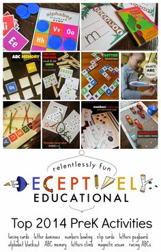Relentlessly Fun, Deceptively Educational: Top 2014 Deceptively Educational PreK Activities