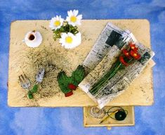 Miniature Flower Arranging Table - Top View