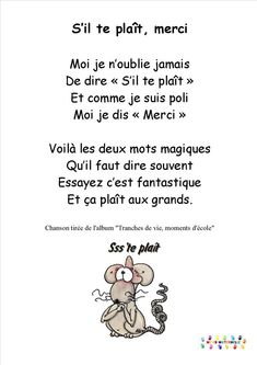 MC en maternelle – une année en maternelle (PS et GS) … French Language Lessons, French Language Learning, French Lessons, French Teaching Resources, Teaching French, French Poems, French Nursery, Core French, French Classroom