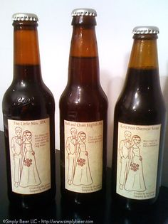 Beer Wedding Favors.. especially since Michael is about to start home brewing.