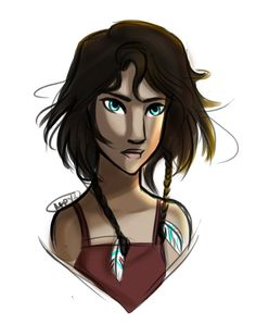 Piper McLean from Heroes of Olympus fan art drawing by Marion Parajes