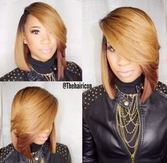 This Color Combination Is Cute @thehairicon - Black Hair Information Community