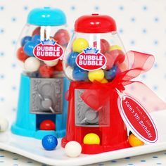 Mini Classic Gumball Machines, Mini Gumball Machine Party Favors, Birthday Party Favors