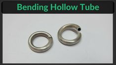 Bending Hollow Tube - A technique on how to bend metal tube in a ring or full circle is shown in the jewelry making video. Bent tubing is used to make this spring ring clasp http://www.jewelry-tutorials.com/make-spring-ring-clasp.html Using standard jewelry workbench equipment such as draw plates and tongs. A former is shaped out of steel. The silver tubing slides over the former. The former is then drawn through the draw plate. A wire draw bench makes this tasks easier.