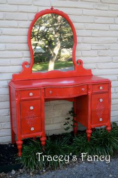 Vintage Vanity/Dressing Table - MADE TO ORDER. $600.00, via Etsy.