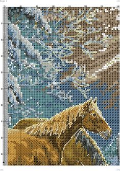 Gallery.ru / Фото #1 - 7 - TATO4KA6 Cross Stitch Horse, Cross Stitch Animals, Counted Cross Stitch Patterns, City Photo, Diy And Crafts, Horses, Crossstitch, Stitches, Snow