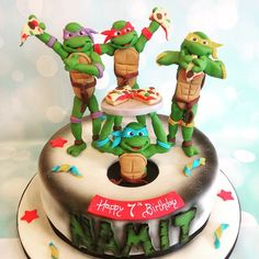 Teenage Mutant Ninja Turtles - Richard's Cakes Ninja Cake, Tmnt Cake, Ninja Turtle Birthday, Ninja Turtle Party, Boy Birthday, Teenage Mutant Ninja Turtles, Turtle Cakes, Cake Cookies, Type 1