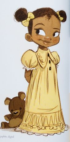 Character design for young Tiana from Disney's Princess and the Frog. Bill Schwab