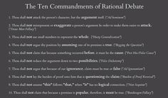 the ten commandments of rational debate