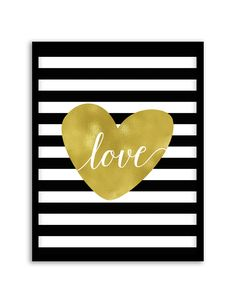 Download and print this free printable Love in Stripes wall art for your home or office! Download by following the directions below.