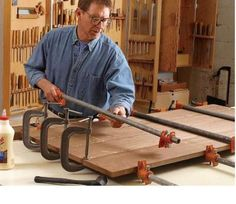 Glue-ups, Making a smooth table top.