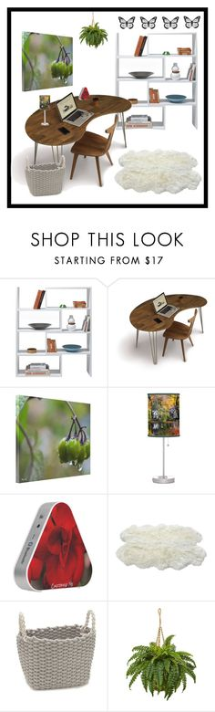 """""""Simple Office"""" by secretarialap ❤ liked on Polyvore featuring interior, interiors, interior design, home, home decor, interior decorating, Design House Stockholm, Copeland Furniture, Luxe Collection and office"""