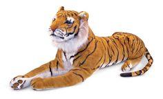 Melissa & Doug Giant Tiger - Lifelike Stuffed Animal (over 1 metre long)