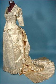 1880s wedding gown