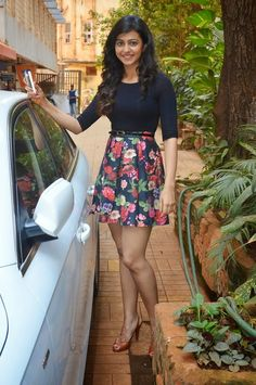 Rakul Preet Singh in a short Floral Skirt for Let's Be Well Red Campaign IndianRamp.com | Indian Ramp