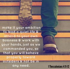 1 Thessalonians 4: 11-12 Goal setting for the new year
