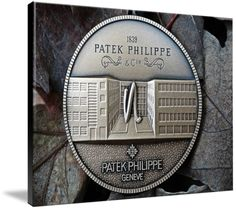 """Patek Philippe Geneve Commemorative Medal Coin $369 // Style: Black Edge Canvas Print; Size: Massive 44"""" x 60"""" // Visit http://www.imagekind.com/Patek-Philippe-Geneve-PPG_art?IMID=8a85802b-eeec-4645-9012-f6a2af3151ab for product details."""