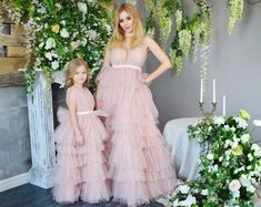 Mother daughter matching dress, Mommy and me outfits, Mother daughter dress Light pink dress Photo shoot Photo session maxi dress clothing - Mommy Daughter Dresses, Mother Daughter Dresses Matching, Mother Daughter Fashion, Little Girl Dresses, Flower Girl Dresses, Vestidos Para Baby Shower, Baby Shower Dresses, Mom And Baby Outfits, Girl Outfits