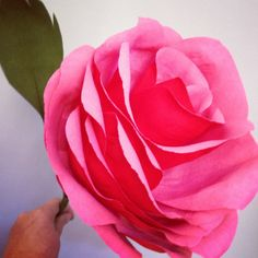 Handmade paper rose by Pearl and Earl www.pearlandearl.com