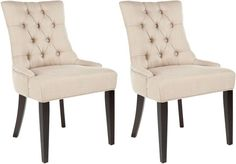The Well Appointed House Park Avenue Sand Beige Tufted Dining Side Chair