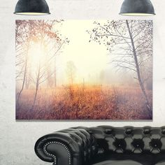 Beautiful Landscape with Trees - Extra Glossy Metal Wall Art Landscape