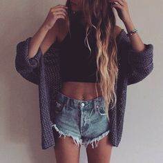 Sweater | Crop Top | High Waisted Denim | Cozy | Summer | Essentials