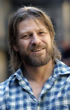 Sean Bean. Change that shirt to a medieval tunic and there is King Gustave from Part I.