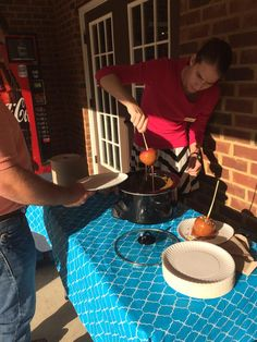 Resident appreciation week! We combated those dreaded fall chills with hot caramel apples and toppings!