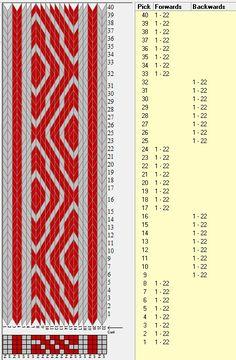 22 tarjetas, 2 colores, secuencia 8F-8B // sed_662 diseñado en GTT༺❁