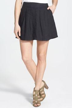 Halogen(R) Pleated Cotton Skirt by Assorted on @HauteLook