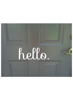 Hello outdoor/indoor front door decoration vinyl sticker decal