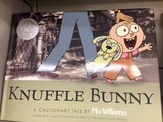 Knuffle Bunny by Mo Willems. This would be a good book for early readers. Students could use this book to come up with their own story, since this book tells a story of something that they might be able to relate to.