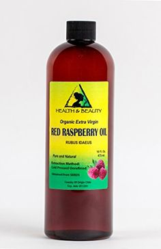 Red Raspberry Seed Oil Organic Unrefined Extra Virgin Cold Pressed Pure 64 oz >>> BEST VALUE BUY on Amazon #OrganicSoap