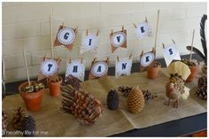 Thanksgiving DIY Banner with Amy Stafford from www.ahealthylifeforme.com