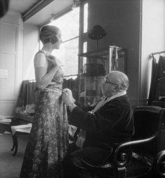 Paul Poiret with model 1930s