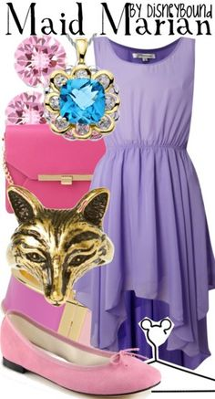 Maid Marian from Robin Hood inspired outfit by DisneyBound Princess Inspired Outfits, Disney Themed Outfits, Disney Inspired Fashion, Character Inspired Outfits, Disney Bound Outfits, Disney Fashion, Estilo Disney, Disney Dress Up, Disney Clothes