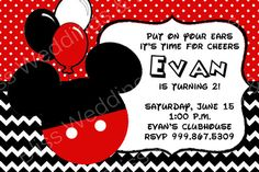 chevron and dots Mickey Mouse printable birthday party collection by Bliss Weddings & Events