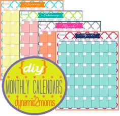 Home Management Binder Free 12 Months DIY Calendar Printables