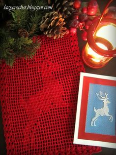 Lacy Crochet: Reindeer Filet Crochet Doily