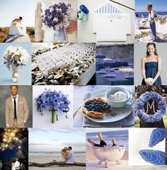 blue seaside wedding