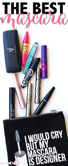 The Best Mascara. PERIOD. These are my top 10 favorite mascaras ever created. And how about the cutest mascara bag ever invented? - www.mynewestaddiction.com
