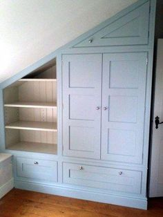 Jaw Dropping Cool Tips: Attic Storage Doors Garage Attic Apartment. Attic Man Cave Offices Attic Stairwell Newel Posts - All About Gardens Attic Apartment, Attic Rooms, Attic Spaces, Attic Bedroom Ideas Angled Ceilings, Attic House, Bedroom In Attic, Small Attic Bedrooms, Angled Bedroom, Bedroom Storage Ideas For Small Spaces