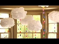 How To Make Tissue Paper Clouds - Kin Community
